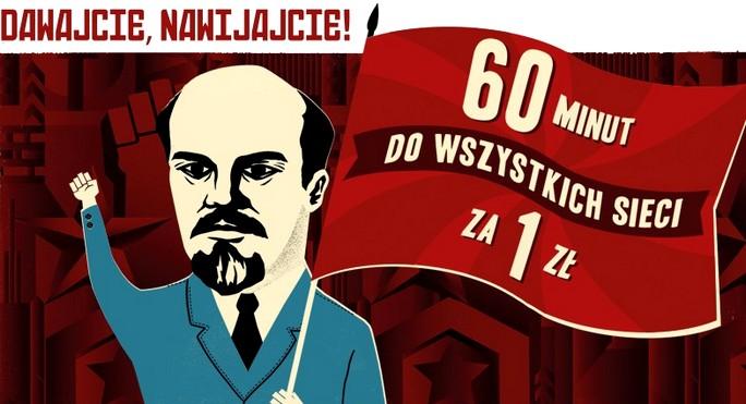 Lenin z billboardu Heyah