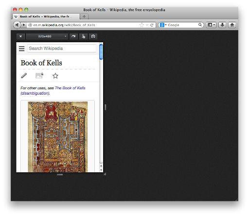 Responsive Design View - screenshot
